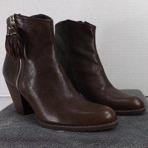 NEW Stuart Weitzman Brown Leather Western Boot 6.5